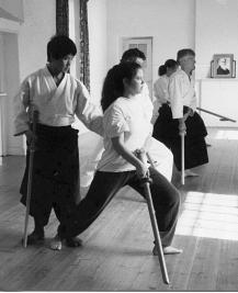 Kashima swordwork class with Kanetsuka Sensei