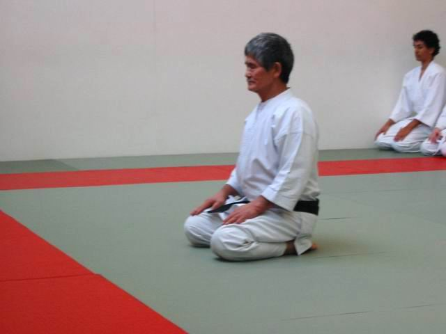 Kanetsuka Sensei at the Oxford Dojo 29-Nov-2003