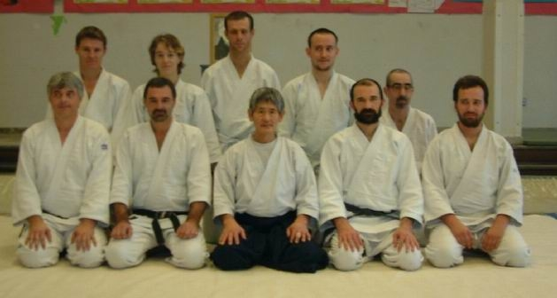 Kanetsuka Sensei with visitors to the BUAF course in Feb 2004